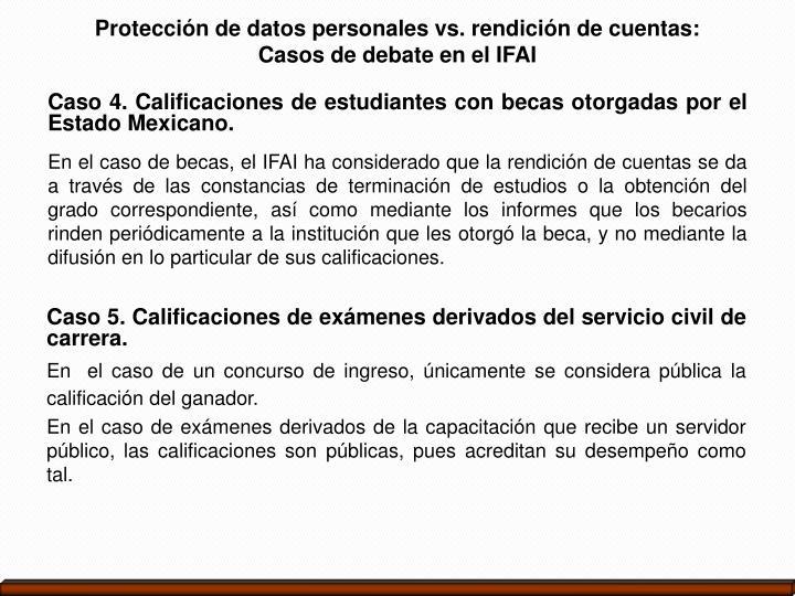 Protección de datos personales vs. rendición de cuentas: