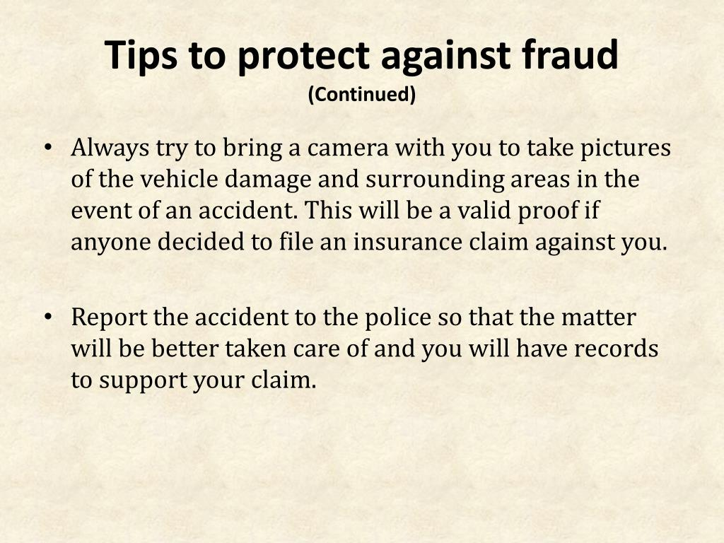 Tips to protect against fraud
