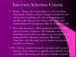 interview selection criteria1