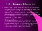 other interview information1