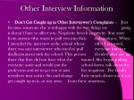 other interview information2