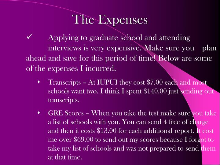 The Expenses