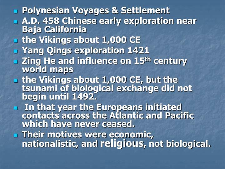 Polynesian Voyages & Settlement