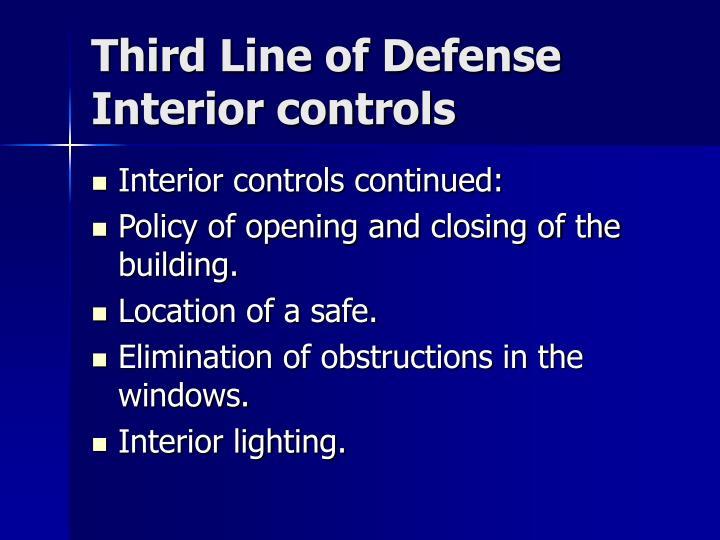 Third Line of Defense