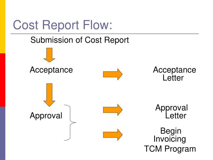 Cost Report Flow: