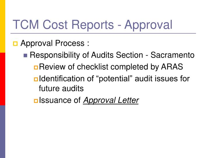 TCM Cost Reports - Approval