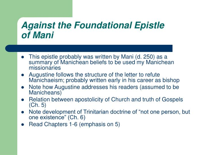 Against the Foundational Epistle