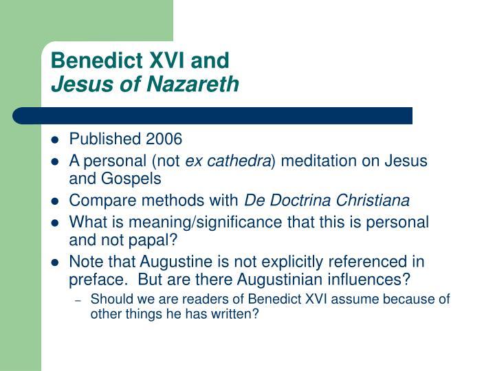 Benedict XVI and