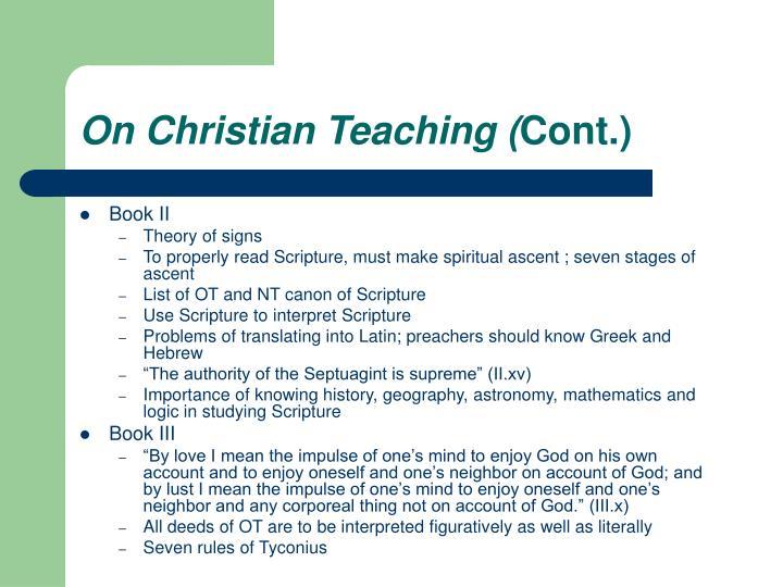On Christian Teaching (