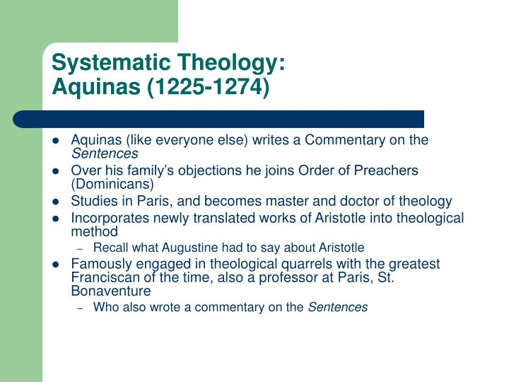 Systematic Theology: