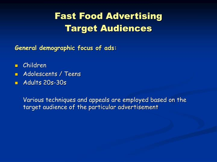 Fast Food Advertising