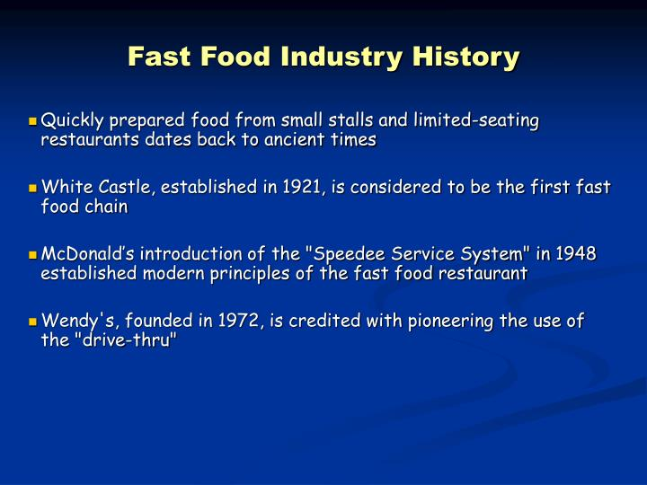 Fast Food Industry History