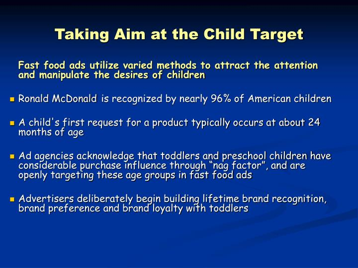 Taking Aim at the Child Target