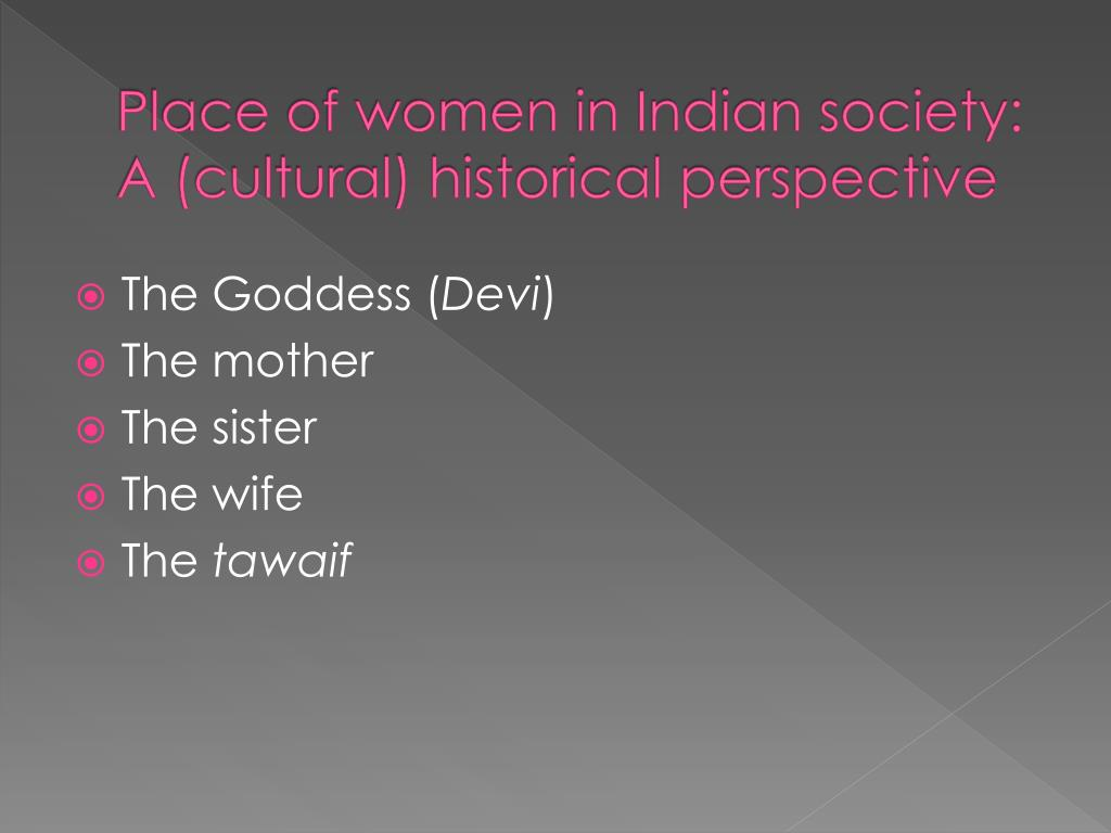 Place of women in Indian society:
