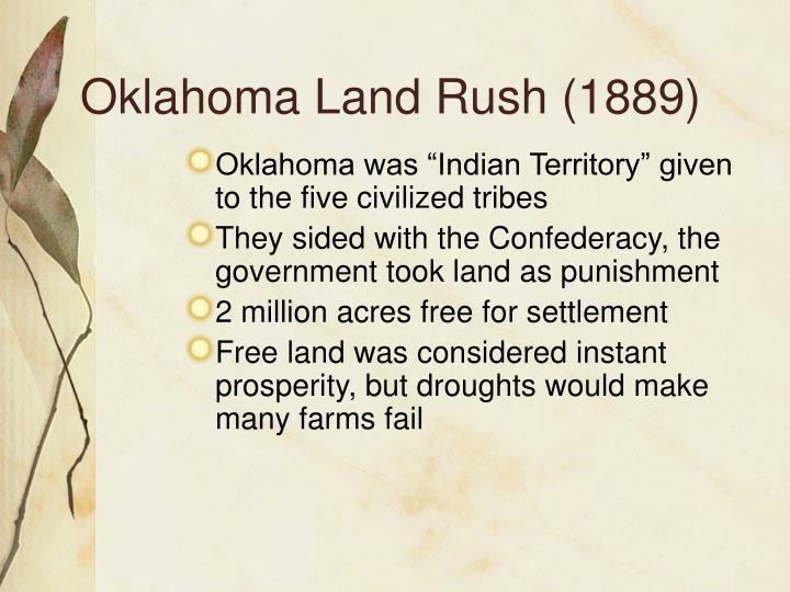 Oklahoma Land Rush (1889)