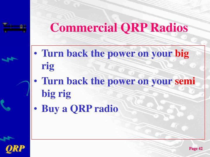 Commercial QRP Radios