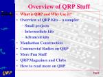 overview of qrp stuff