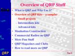overview of qrp stuff1