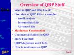 overview of qrp stuff4