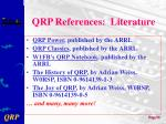qrp references literature