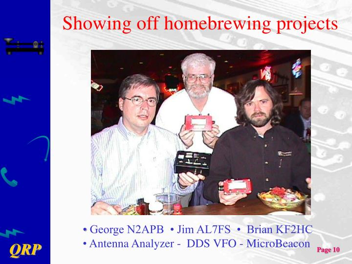 Showing off homebrewing projects