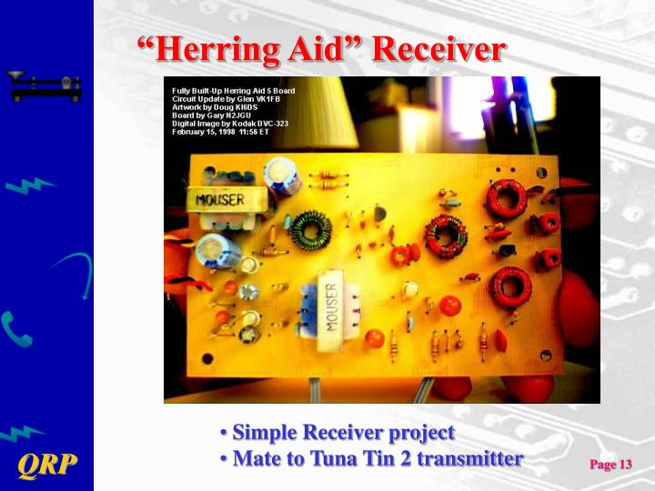 """Herring Aid"" Receiver"