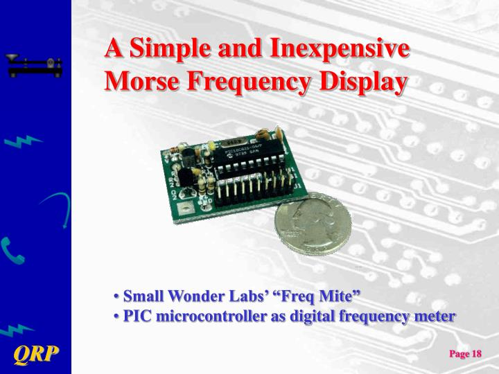 A Simple and Inexpensive Morse Frequency Display