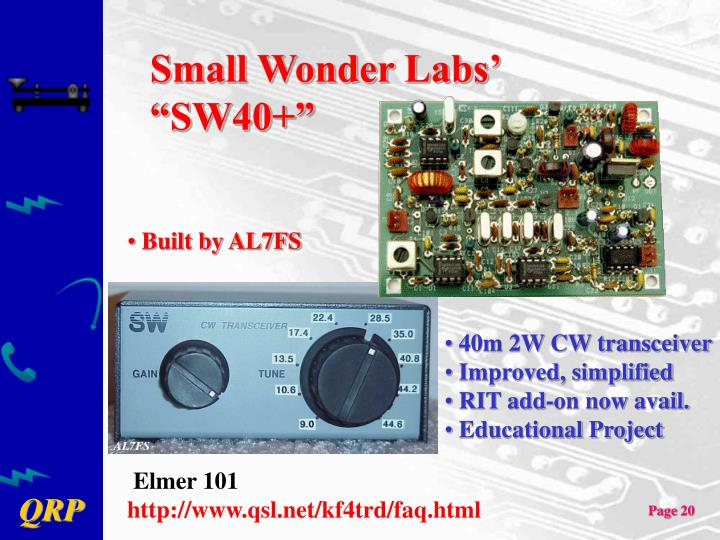 "Small Wonder Labs' ""SW40+"""