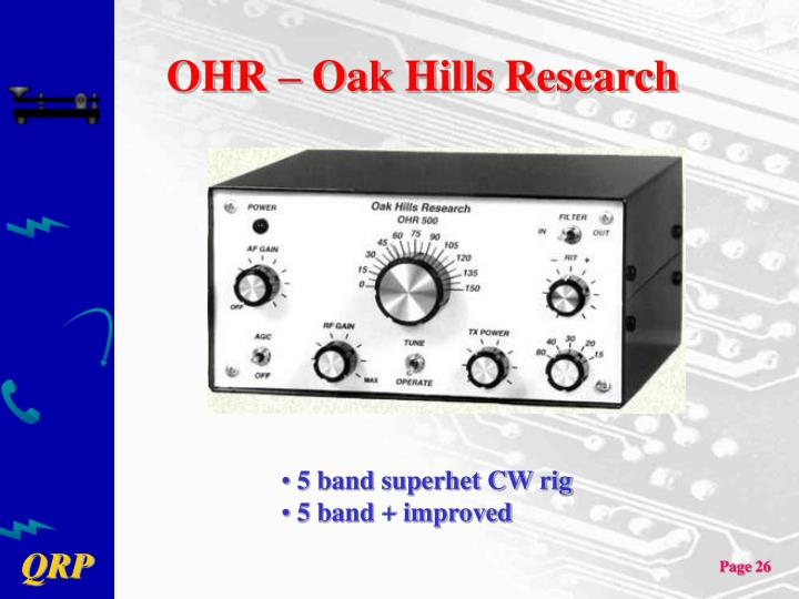OHR – Oak Hills Research