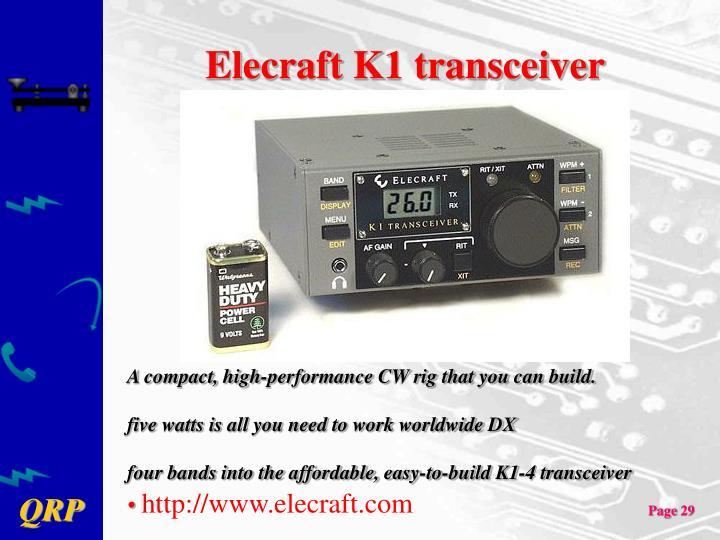 Elecraft K1 transceiver