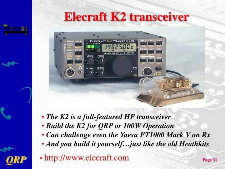 Elecraft K2 transceiver