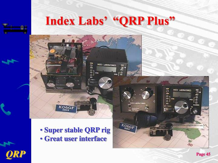 "Index Labs'  ""QRP Plus"""