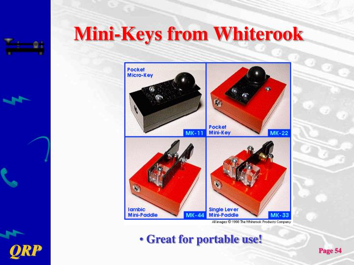 Mini-Keys from Whiterook