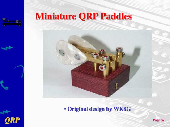 Miniature QRP Paddles