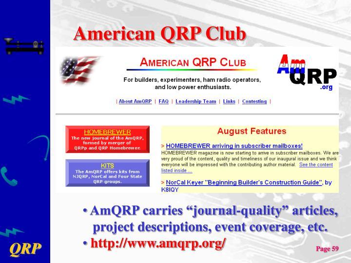 American QRP Club