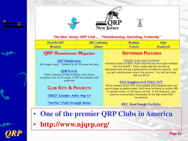 One of the premier QRP Clubs in America