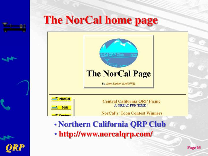 The NorCal home page