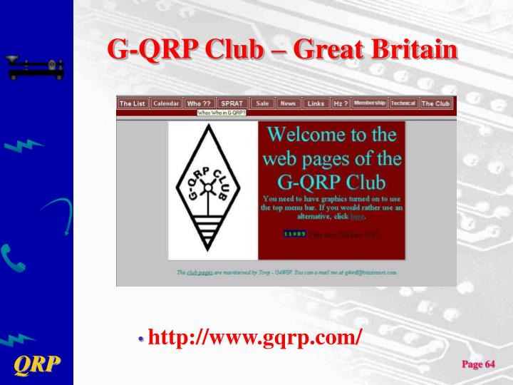 G-QRP Club – Great Britain