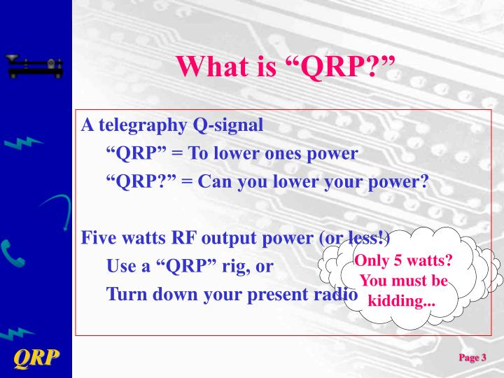 What is qrp