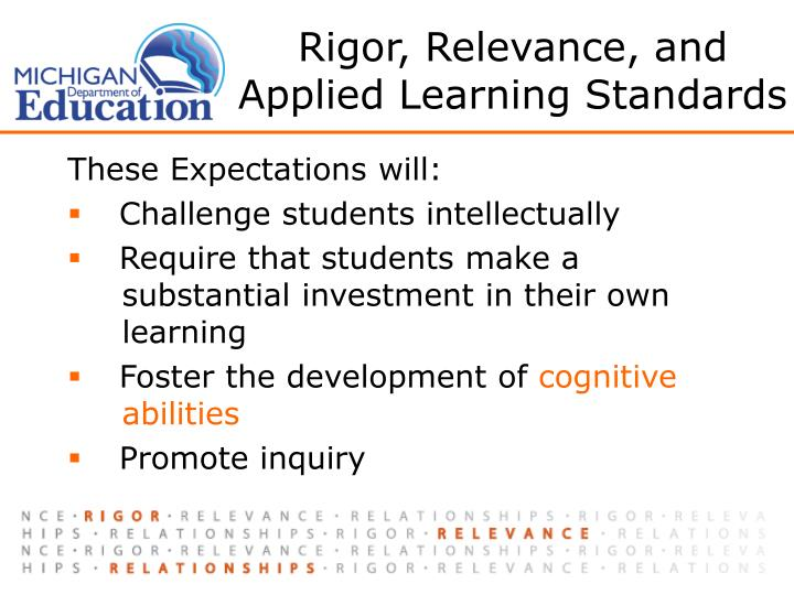 Rigor, Relevance, and