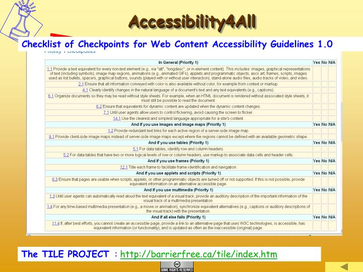 Accessibility4All
