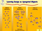 learning design as agregated objects