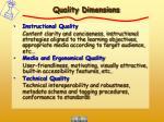 quality dimensions