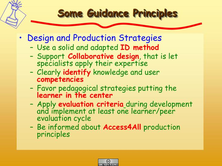 Some Guidance Principles