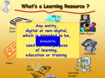 what s a learning resource