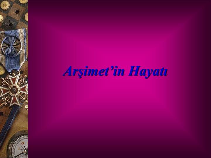 Arimetin Hayat