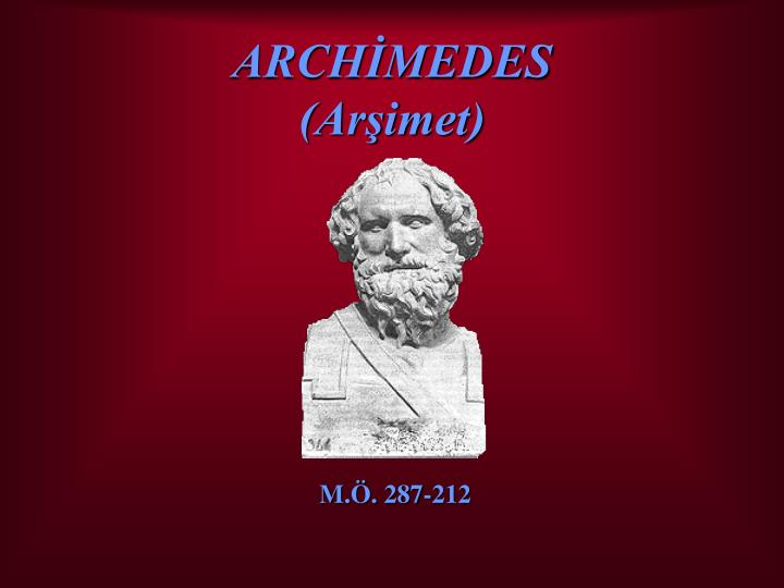 Arch medes ar imet