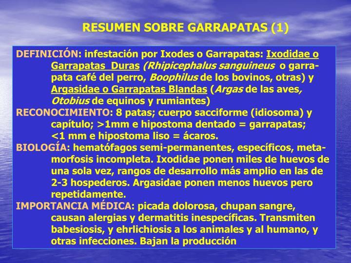 RESUMEN SOBRE GARRAPATAS (1)