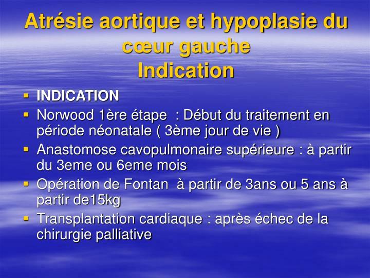 Atrésie aortique et hypoplasie du cœur gauche
