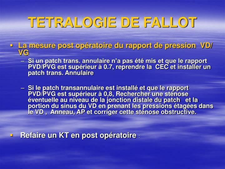 TETRALOGIE DE FALLOT